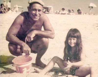 Danielle Serino with grandfather Serino at Jones Beach in New York