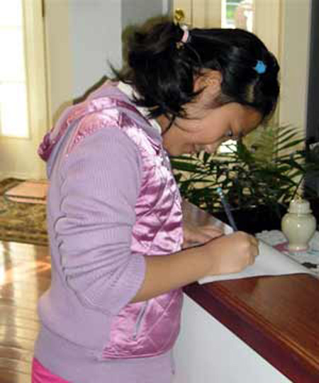 Demi Zhang writing