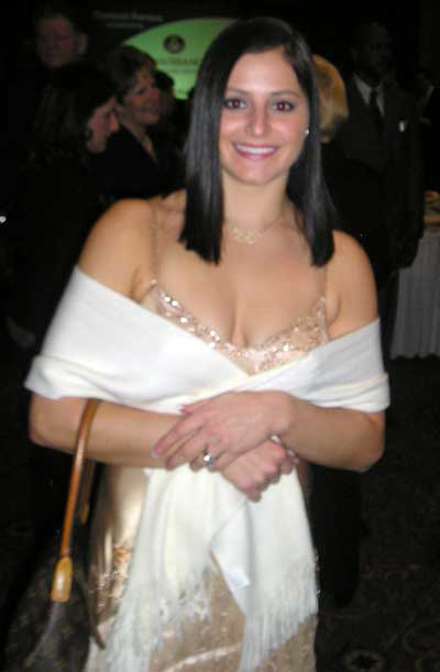 Dominique Moceanu at Sports Banquet in January 2007