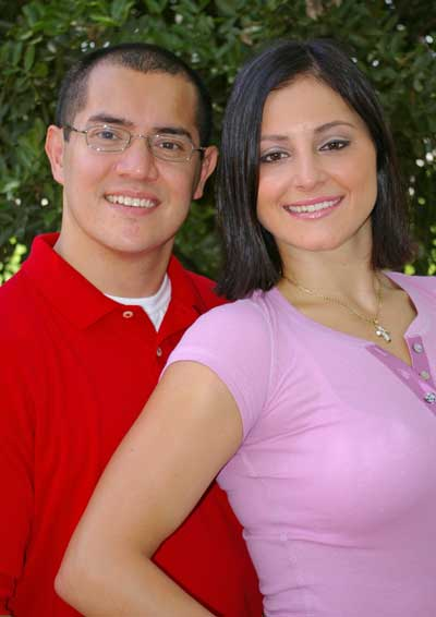 Dominique Moceanu and Mike Canales