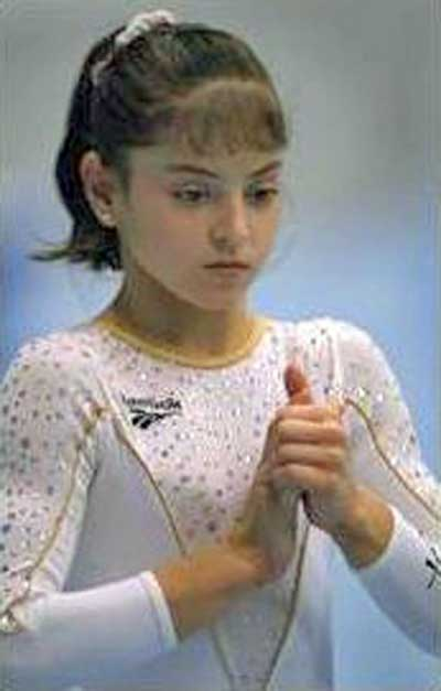 Young Gymnast Dominique Moceanu
