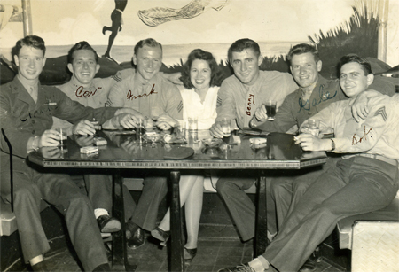 Doris O'Donnell with Marines in 1943
