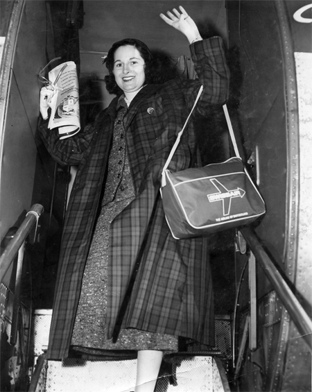 Doris O'Donnell on her way to Russia