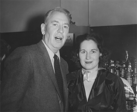 Howard and Doris at the Press Club in 1957