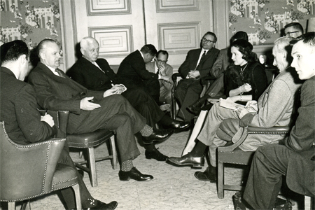 Doris O'Donnell in the Union Club in 1958