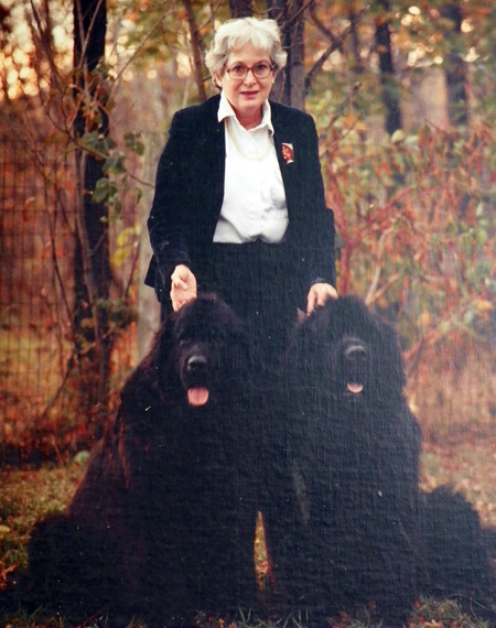 Doris O'Donnell with her newfies