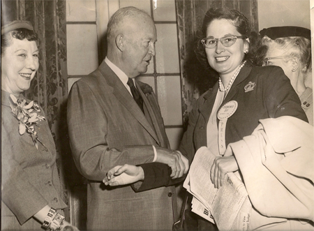 oris O'Donnell with president Dwight D. Eisenhower