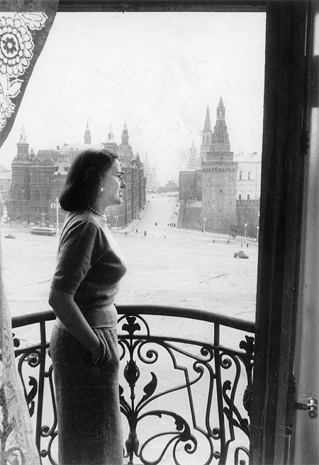 Doris O'Donnell looking at Red Square