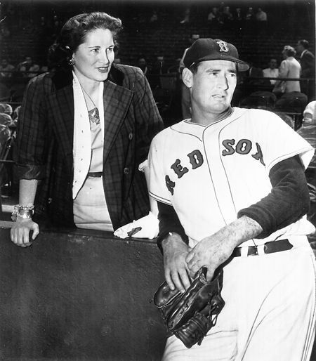 Doris O'Donnell with Ted Williams