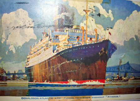 Painting of the Twin-screw Steamship S.S. Athenia
