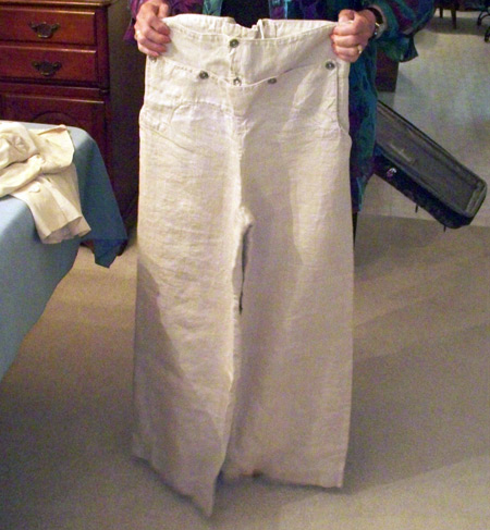 Bell Bottom pants given to Florence Kelly after Athenia was hit