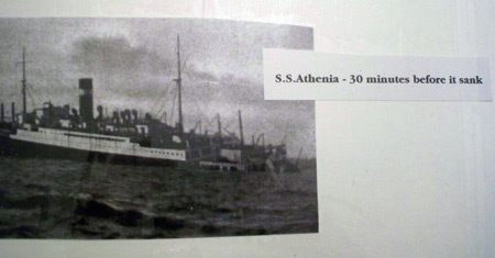 S.S. Athenia 30 minutes before sinking