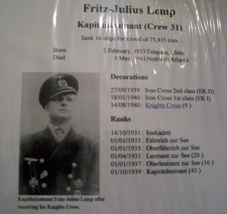Captain Fritz Julius Lemp