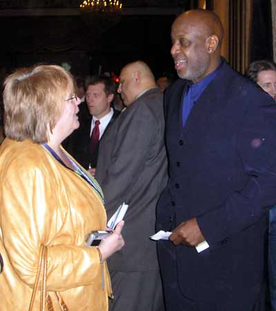 Debbie Hanson with Campy Russell