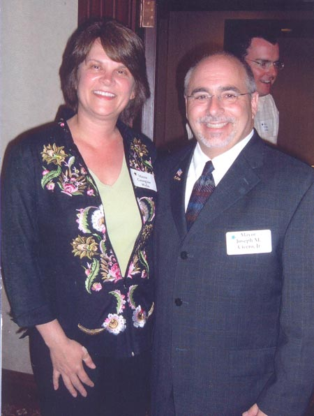 South Euclid Mayor Georgine Welo and Lyndhurst Mayor Joseph M. Cicero Jr.