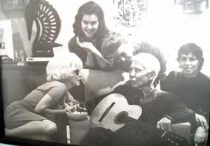 Carl Sandburg with Marilyn Monroe and others