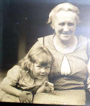 Helga Sandburg and grandmother Oma