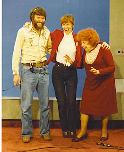 WEWS Cameraman Ron Myers with Jan Jones and Dorothy Fuldheim