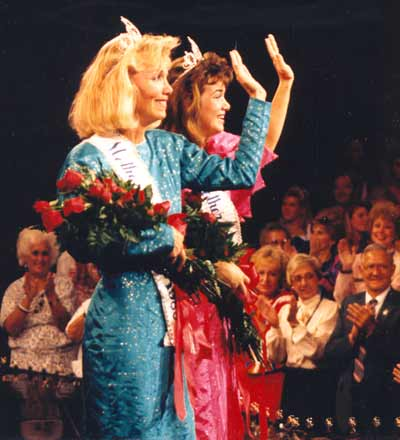 Jan Jones and daughter in National Mother/Daughter Pageant 1988
