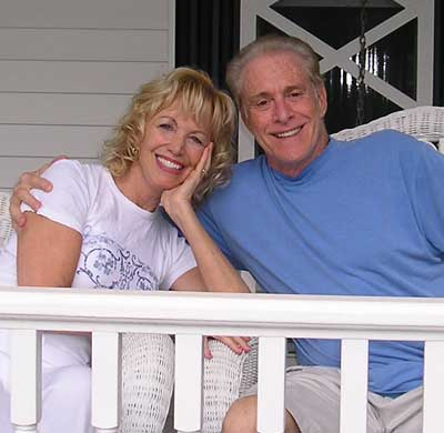 Jan Jones and husband Dr Sheldon Artz at home in 2007