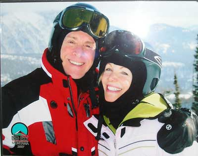 Sheldon Artz and Jan Jones on ski trip