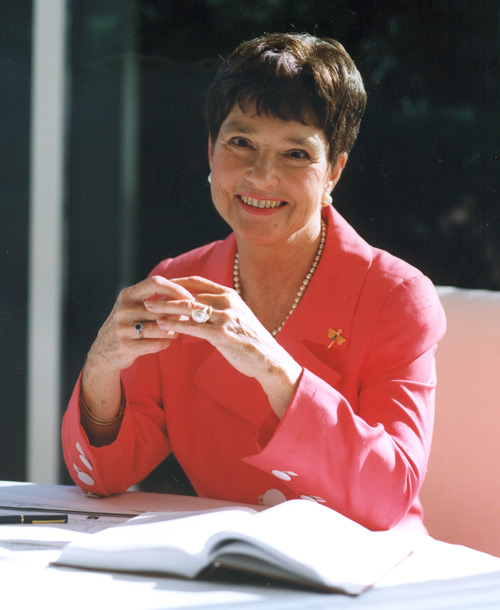 Jeanette Grasselli Brown at Ohio University in 1995