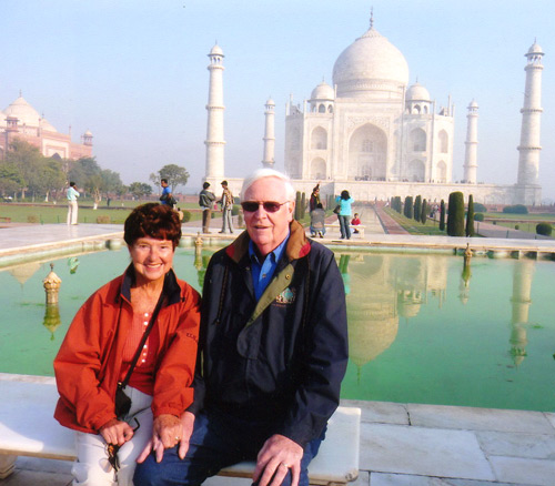 Jenny and Glenn Brown at the Taj Mahal in 2008