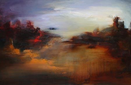 Lissa Bockrath Shapiro painting - Somewhere in the Middle