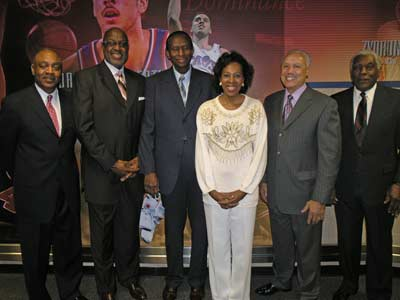 Madeline Manning Mims honored by the Cleveland Cavaliers on January 23, 2008 along with the Browns Reggie Rucker, Cavs Campy Russell, Earl Lloyd, the first African-American player to play in the NBA, Basketball Hall of Famer Lenny Wilkens and Bill White, the first African-American President of Major League Baseball's National League