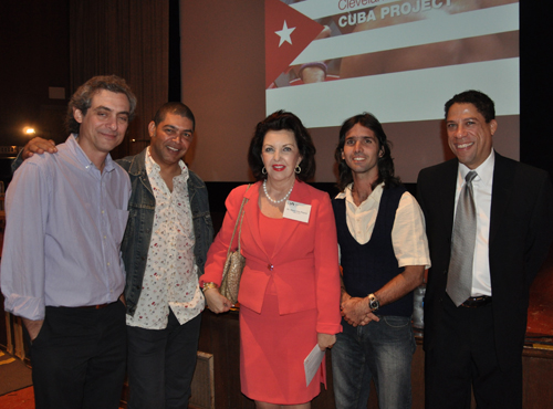Maria Pujana With visiting Cuban artists at the Cleveland Institute of Art - November 2011