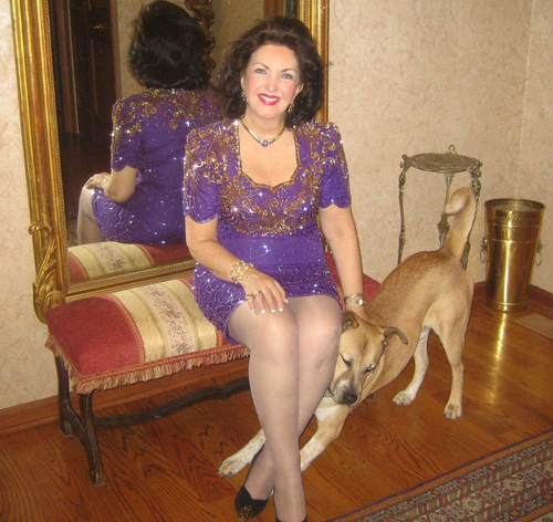 Maria Pujana with dog 'Tupac'