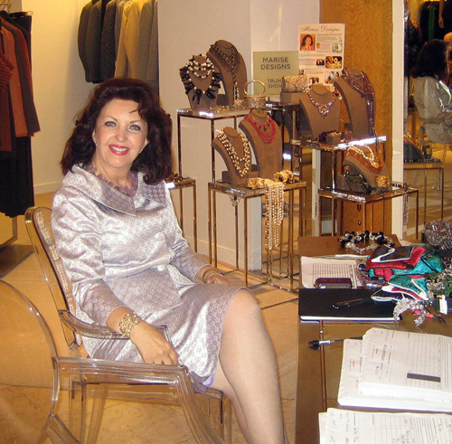 Maria Pujana at Saks Fifth Avenue in New York