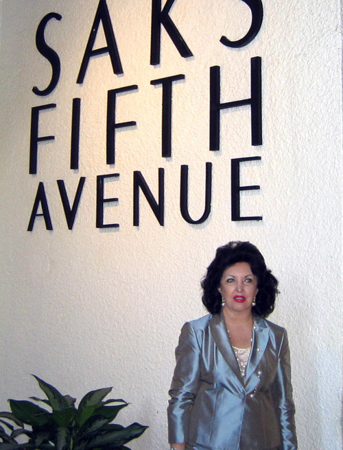 Maria Pujana at Saks Fith Avenue in New York City