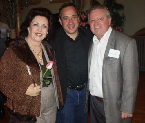 Maria Pujana and husband Hugo with Councilman Matt Zone