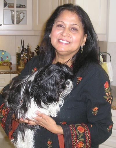 Rita Singh with her dog Spice