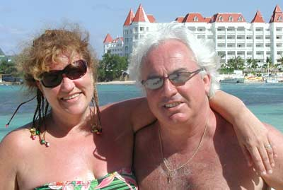 Sandy Lesko and Ron Mounts in Jamaica 2008