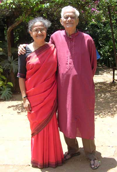Sarojini Roji Rao and her father