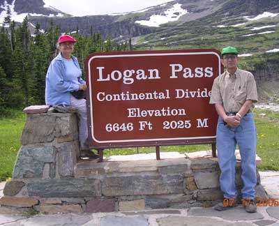 Roji and Sridhar at Glacier National Park