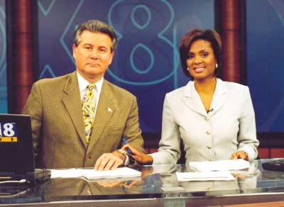Fox 8 anchors Bill Martin and Stacey Bell