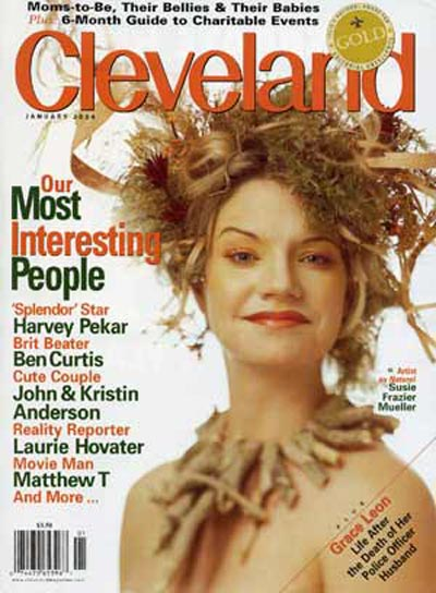 Cleveland Magazine cover featuring Susie Frazier Mueller (Jamie Janos photography)