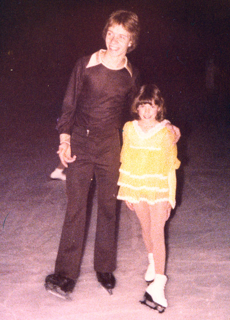 Scott Hamilton with 8 year old Tonia Kwiatkowski in May 1979