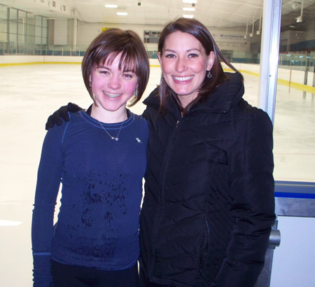 Tonia Kwiatkowski with one of her students