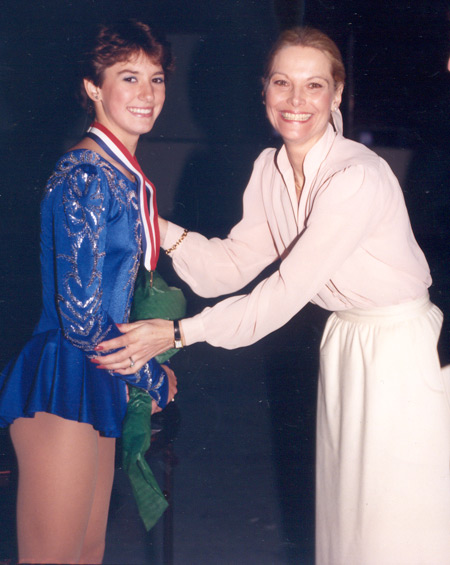 Tonia Kwiatkowski and Carol Heiss Jenkins in 1986