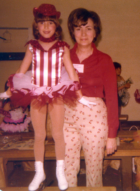Tonia Kwiatkowski with her Mom in 1978
