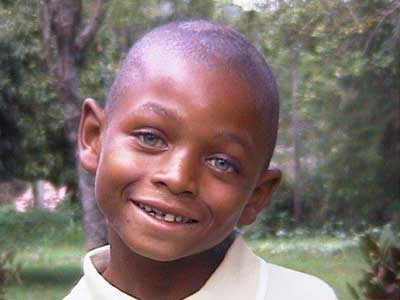 A young African orphan that Virginia Marti Veith and Herb Veith help support