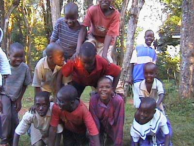 Some of the African orphans that Virginia Marti and Herb Veith support
