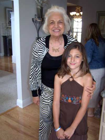 Virginia Marti with granddaughter Alexandra