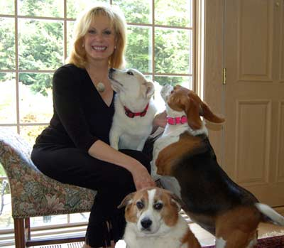 Wilma Smith and her dogs